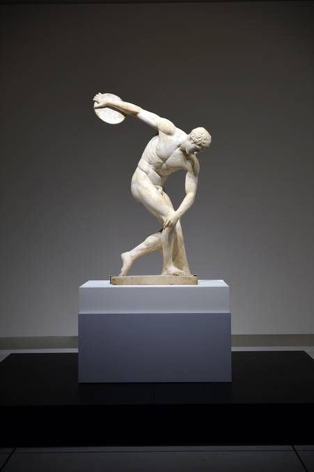 Marble Statue of a Discus Thrower (Diskobolus) (2nd century AD)