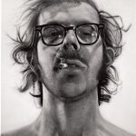 Chuck Close, 'Big Self-Portrait', 1967-1968. acrylic on canvas, 107-1/2