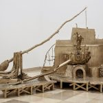 Shaduf, 2012-13 -  an ancient Egyptian irrigation tool elaborated into a throne room, as inspired by the pharaoh fertilising crops with his own faeces - from 'River of Fundament'