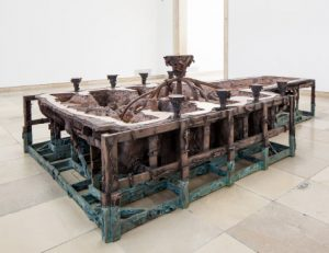 Matthew Barney, Rouge Battery, (2014), Cast copper and iron, 71.1 x 228.6 x 454.7cm. Courtesy of the artist and Gladstone Gallery, New York and Brussels