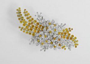 The Queen's Australian ′Wattle' brooch: Diamonds, platinum, William Drummond & Co, Melbourne, 1954.