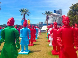 Xia Nan's Terracotta Warrior Lanterns at Dawes Point, Sydney
