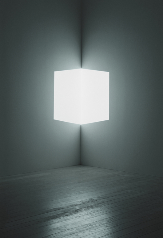 James Turrell, Afrum (White), 1966, cross-corner projection: projected light. Los Angeles County Museum of Art. © James Turrell. Photograph © Florian Holzherr.