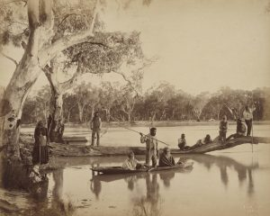 Charles Bayliss, Group of local Aboriginal people, Chowilla Station, Lower Murray River, South Australia (1886)