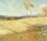 Arthur Streeton, Golden Summer, Eaglemont, 1889, oil on canvas. Image courtesy of the National Gallery of Australia.