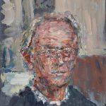 Tom Carment, Self-portrait at 60, oil on linen, 20 x 15 cm