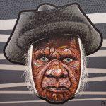 Adam (aka Blak Douglas) Hill, Smoke and mirrors (Uncle Max Eulo), acrylic on canvas, 214 x 214 cm