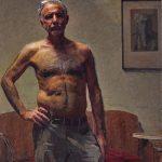 Robert Hannaford, Robert Hannaford, self-portrait, oil on canvas, 114 x 90 cm