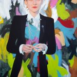 Kim Leutwyler, Start the riot, oil on canvas, 152 x 102 cm