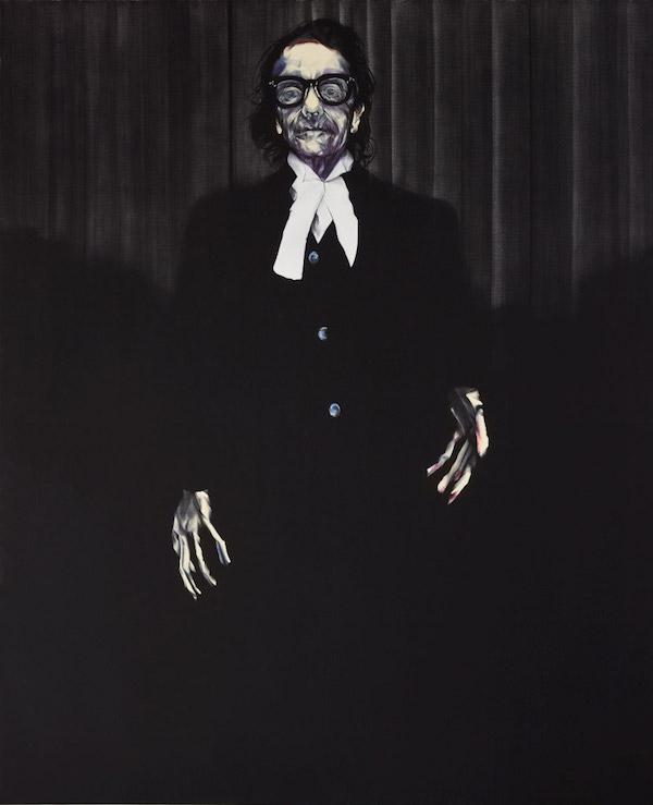Winner: Archibald Prize 2015, Nigel Milsom, Judo house pt 6 (the white bird), oil on linen, 232 x 190 cm.