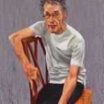 Andrew Sayers, Portrait of Tim Bonyhady, oil on canvas, 100 x 75 cm