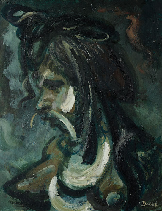 WILLIAM DOBELL, 'Head of Kuta girl' (1953) oil on hardboard, 45 x 34 cm. Private collection