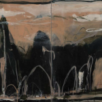 Li River Landscape, Clouds, Mist, White Horse and Waterfall (diptych), 2014, oil and acrylic on linen, 240 x 258cm. Courtesy the artist and Defiance Gallery, Sydney