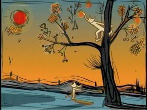 Bu Hua, Cat (2002), flash digital animation 5m 30s (still)