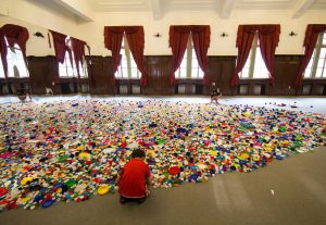 Choi Jeong Hwa, 'The Mandala of Flowers' 2014 / Plastic container lids / Courtesy: The artist