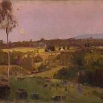Evening, when the quiet east flushes faintly at the sun's last look (c.1887)