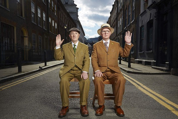 GILBERT & GEORGE: THE ART EXHIBITION Gentlemen of the gutter: Gilbert & George. Photo: Jay Brooks/Camera Press/AustralS