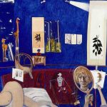 Brett Whiteley, 'Self portrait in the studio', (1976)