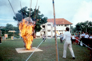 Tan Teng-Kee, Fire Sculpture, 1979. 'The Picnic', Normanton Estate, Singapore. Photograph by and courtesy of Tan Teng-Kee