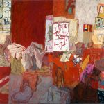 Elisabeth Cummings, 'Journey through the Studio', (2004), oil on canvas, 175 x 300cm, Private Collection.