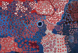 Patju Presley, Lawrence Pennington, Simon Hogan, Ian Rictor, Roy Underwood, Fred Grant, Byron Brooks and Lennard Walker, Pitjantjatjara people, Western Australia, Ilkurlka 2015 Ilkurlka, Western Australia, synthetic polymer paint on linen, 200.0 x 290.0 cm, Courtesy the artists and Spinifex Arts Project. Photo: Saul Steed