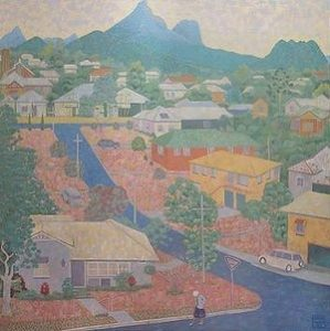 Edwin Wilson's Mullumbimby Townscape. Photo: Supplied