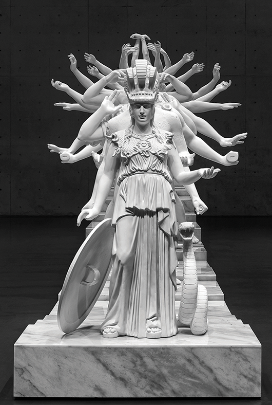 Xu Zhen (produced by MadeIn Co), European Thousand-Armed Classical Sculpture, 2014.