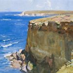 Arthur Streeton, Cliff and ocean blue, (1932)