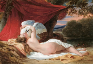 Leda and Swan, an 1829 oil painting by the French artist François-Edouard Picot.