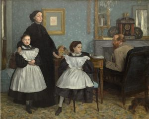 Edgar Degas, Family portrait (Portrait de famille), also called The Bellelli family 1867, oil on canvas, 201.0 x 249.5 cm Lemoisne 79. Musée d'Orsay, Paris (RF 2210) © Musée d'Orsay, Dist. RMN-Grand Palais / Patrice Schmidt