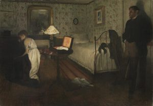 Edgar Degas, Interior (Intérieur) 1868/69, oil on canvas, 81.3 x 114.3 cm, Lemoisne 348 Philadelphia Museum of Art, Pennsylvania, The Henry P. McIlhenny Collection in memory of Frances P. McIlhenny, 1986 (1986-26-10) © Philadelphia Museum of Art