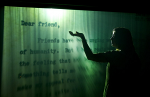 Jitish Kallat,Covering Letter, 2012, Fog screen projection, Dimensions, variable, Edition 1/3, Burger Collection, Hong Kong