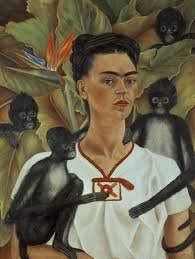 Frida Kahlo, 'Self-portrait with monkeys' (1943)