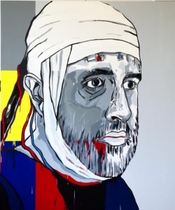 Jasper Knight's 'Self-portrait with a bandaged head'