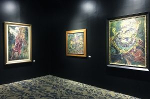 "Installation view of ""Affandi - The Human Face,"" a non-commercial special exhibition presented by Sotheby's, including 17 masterpieces by the artist from private collections"
