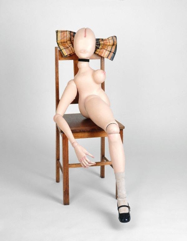 Hans Bellmer La demie poupée 1971 wood, paint and assemblage, doll, 90 cm Art Gallery of New South Wales. Purchased 1996 © Hans Bellmer, 1971. Art Gallery of New South Wales, Sydney Purchased 1996 89.1996  © Hans Bellmer. Licensed by VISCOPY, Australia.