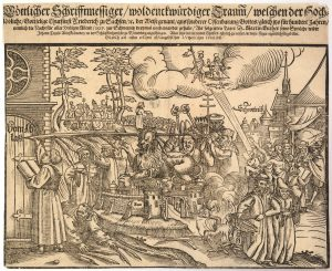 Reformation centenary broadsheet, Woodcut print on paper, 1617 CE, Leipzig, Germany © Trustees of the British Museum