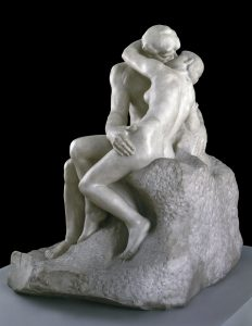 Auguste Rodin     'The kiss' 1901–04    Pentelican marble     182.2 x 121.9 x 153 cm     Tate: Purchased with assistance from the Art Fund and public contributions 1953, image © Tate, London 2016