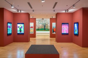 nstallation view of David Hockney: Current at the National Gallery of Victoria, Melbourne.© David Hockney Inc.