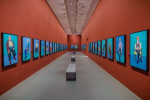 Installation view of David Hockney: Current at the National Gallery of Victoria, Melbourne.© David Hockney Inc