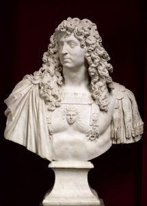 Jean Varin, Bust of Louis XIV1665-66, marble. On loan from the Palace of Versailles Photo © Château de Versailles, Dist. RMN-Grand Palais / Franck Raux