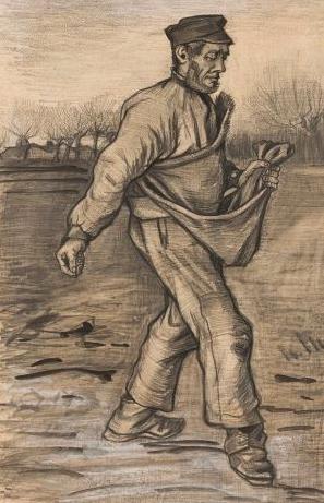 Vincent Van Gogh, The sower (1882)