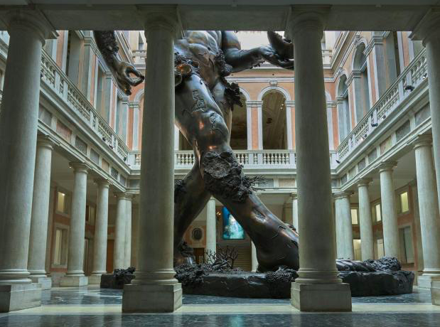 Damien Hirst played the role of Godzilla in this year's Biennale