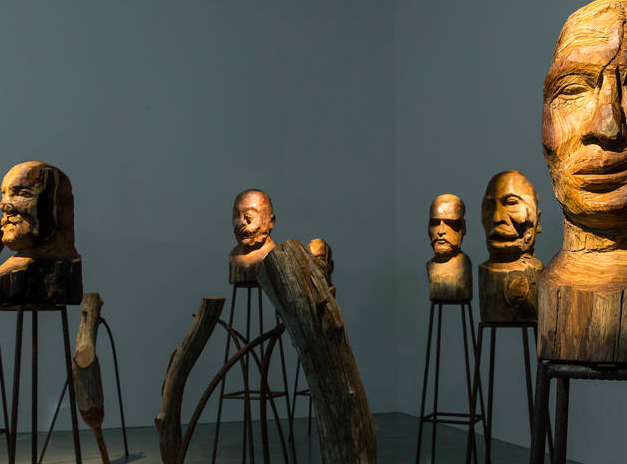 Kader Attia, watching heads from J'Accuse (2016)