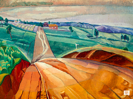 Grace Cossington Smith, Landscape at Pentecost (1929)