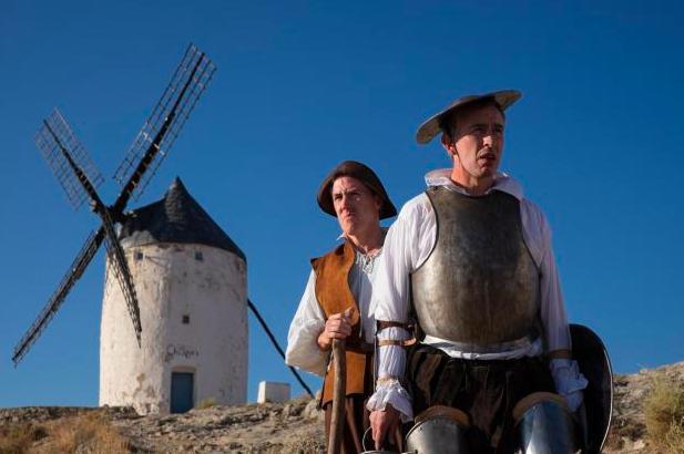 Lunching in La Mancha.. Brydon as Sancho, Coogan as the Don