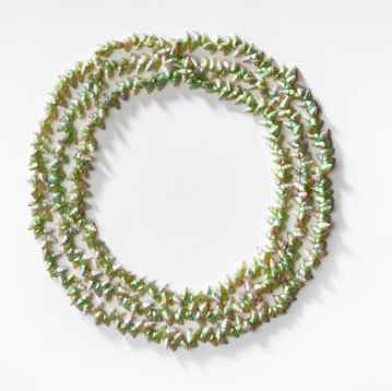 Lola Green, Green Maireener shell necklace (2016)