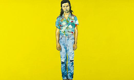 Jenny Watson, 'Yellow Painting: John' (1974)