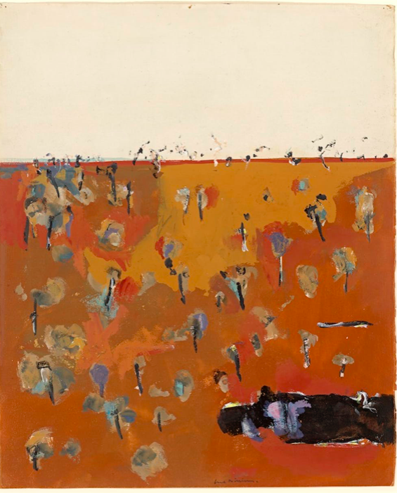 Fred Williams, 'You Yangs Pond' (1967) gouache on paper