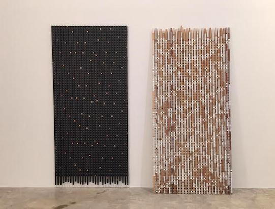 Hilarie Mais, 'reflection/reach' (2015) & 'reflection/feather' (2016)